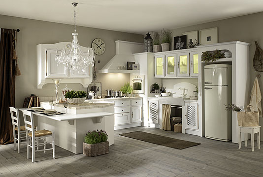 Sicc kitchens modular design classical masonry and - Cucina shabby moderno ...